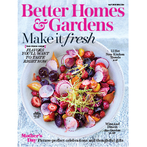Bowl of fresh fruit on the cover of a magazine photo