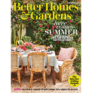 Outdoor dining set on cover of magazine photo
