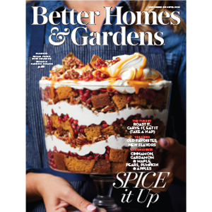 Dessert on cover of magazine photo
