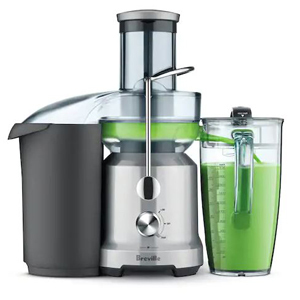 Breville juicer that comes with a juice jug for storing. photo