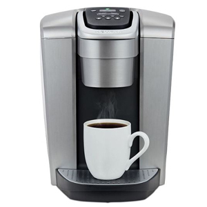 Black and silver Keurig coffee maker photo