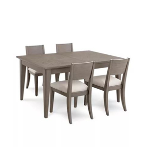 Five-piece dining table set in gray by Tribeca from Macy's photo