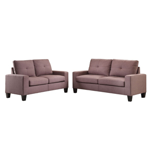 Sofa and loveseat in brown by Acme Furniture from Macy's photo