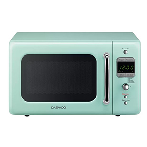 Retro countertop microwave in mint green photo