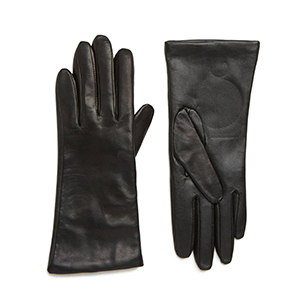 Nordstrom leather cashmere gloves with touch-screen compatibility photo