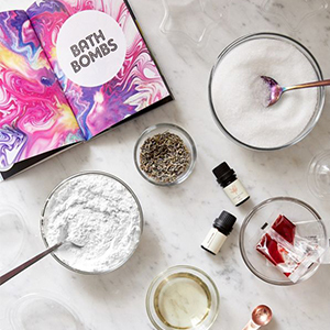 Urban Outfitters bath bomb recipe book with molds photo