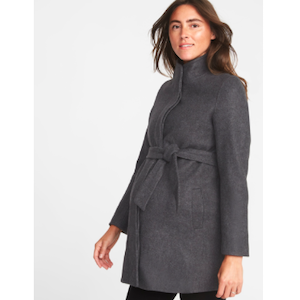 Maternity Coat Old Navy Funnel Neck photo