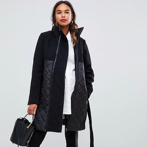 ASOS Maternity Coat Mama.licious Maternity and Post-Birth Quilted Coat photo