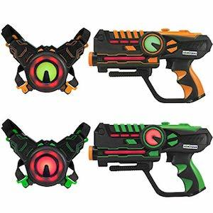 Best Winter Snow Day Outdoor Activities ArmoGear Infrared Laser Tag Blasters and Vests photo