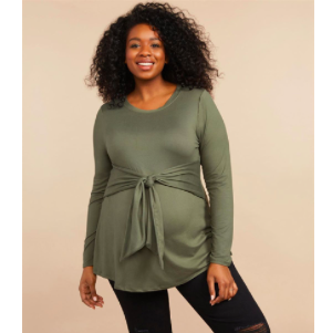 Where to Buy Maternity Clothes Motherhood Maternity Plus Size Top photo