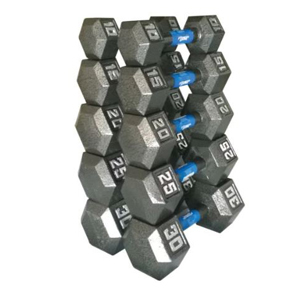 Dumbbell set from 10 pound weights to 30 pound weights photo