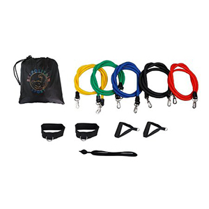 Stackable resistance band set for yoga photo