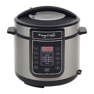 Megachef pressure cooker with adjustable settings. photo