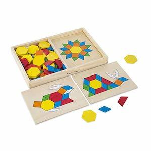 Best Montessori Toys for 3 Year Old Kids Melissa & Doug Pattern Blocks and Boards Classic Toy photo