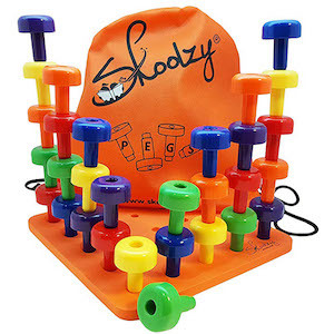 Best Montessori Toys for 3 Year Old Kids Skoolzy Peg Board Set photo