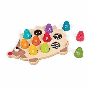 Best Montessori Toys for 3 Year Old Kids Janod Wooden Number Hedgehog Playset photo
