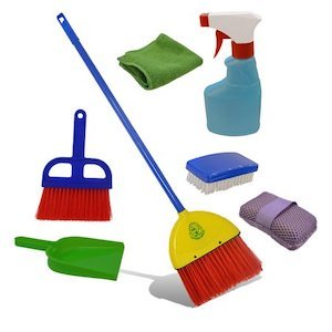Best Montessori Toys for 3 Year Old Kids Laughing Lettuce Children's Cleaning Set photo