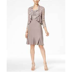 Mother of the Bride Dresses Under $250 R&M Richards A-Line Dress and Ruffled Jacket photo