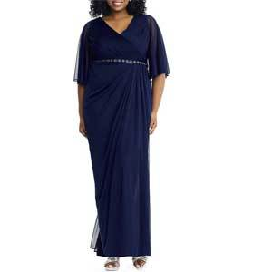 Mother of the Bride Dresses Under $250 Adrianna Papell Plus Size Flutter Sleeve photo