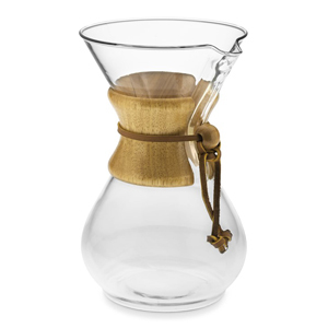 Chemex pour-over glass coffee maker from Williams Sonoma photo