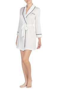 Bridal Party Robes 'Mrs. Charmeuse' Short Robe by Kate Spade New York Nordstrom photo