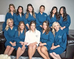 Bridal Party Robes Etsy Personalized Cotton Waffle Bridal Robes photo