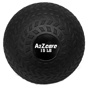 Black medicine ball that weighs 15 pounds photo