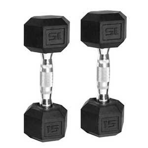 Set of two hex dumbbells photo