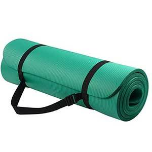 Green all-purpose exercise mat photo