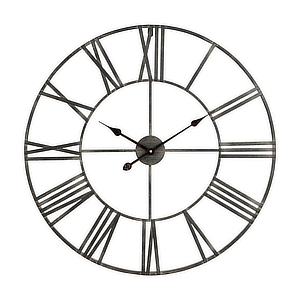 Large industrial inspired wall clock. photo