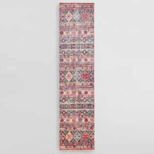 Multicolor runner with a geometric pattern photo