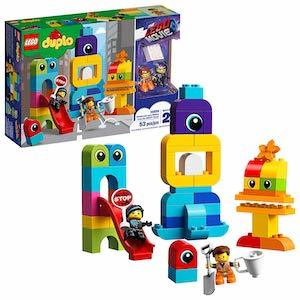 colorful 'The LEGO Movie 2' Emmet and Lucy's Visitors from the DUPLO Planet from Amazon photo