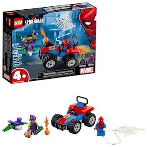 blue and red LEGO Spider-Man Car Chase from Target photo
