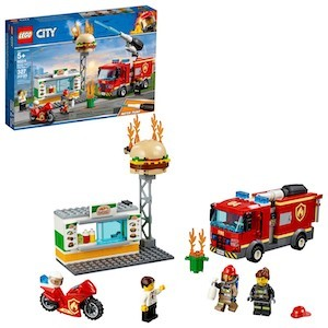 colorful LEGO City Burger Bar Fire Rescue Set from Target photo