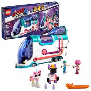 colorful 'The LEGO Movie 2' Pop-Up Party Bus Building Kit from Amazon photo