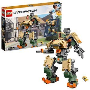 beige and green LEGO Overwatch Bastion Building Kit from Walmart photo