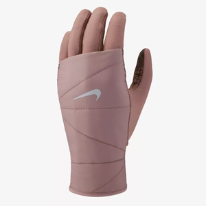 Blush pink quilted running gloves by Nike photo