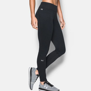 Black fleece-lined leggings by Under Armour photo