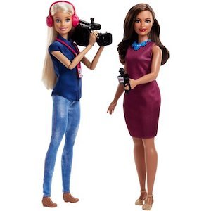 Best Barbie Dolls and Playsets Barbie Careers TV News Team Dolls photo