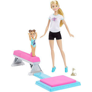 Best Barbie Dolls and Playsets Barbie and Toddler Student Flippin Fun Gymnastics Dolls photo