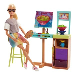 Best Barbie Dolls and Playsets Barbie Art Studio Playset photo