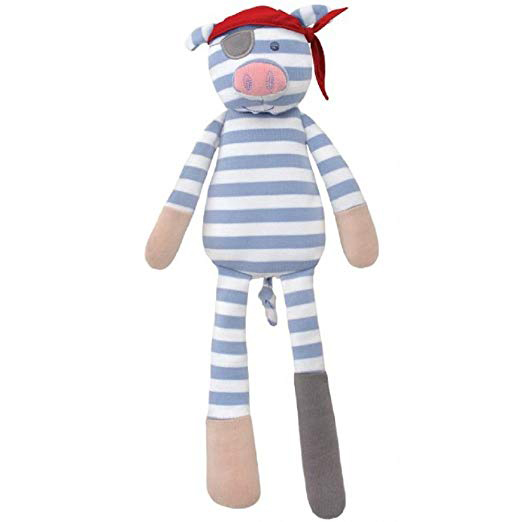 Pig-Themed Baby and Toddler Gifts Organic Farm Buddies Pirate Pig Plush Toy photo