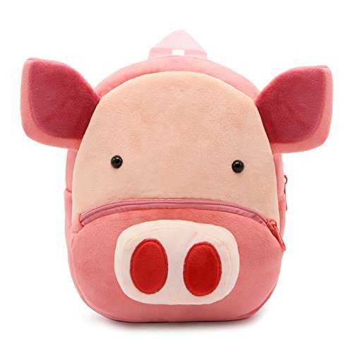 Pig-Themed Baby and Toddler Gifts CutePaw Plush Animal Toddler Backpack photo