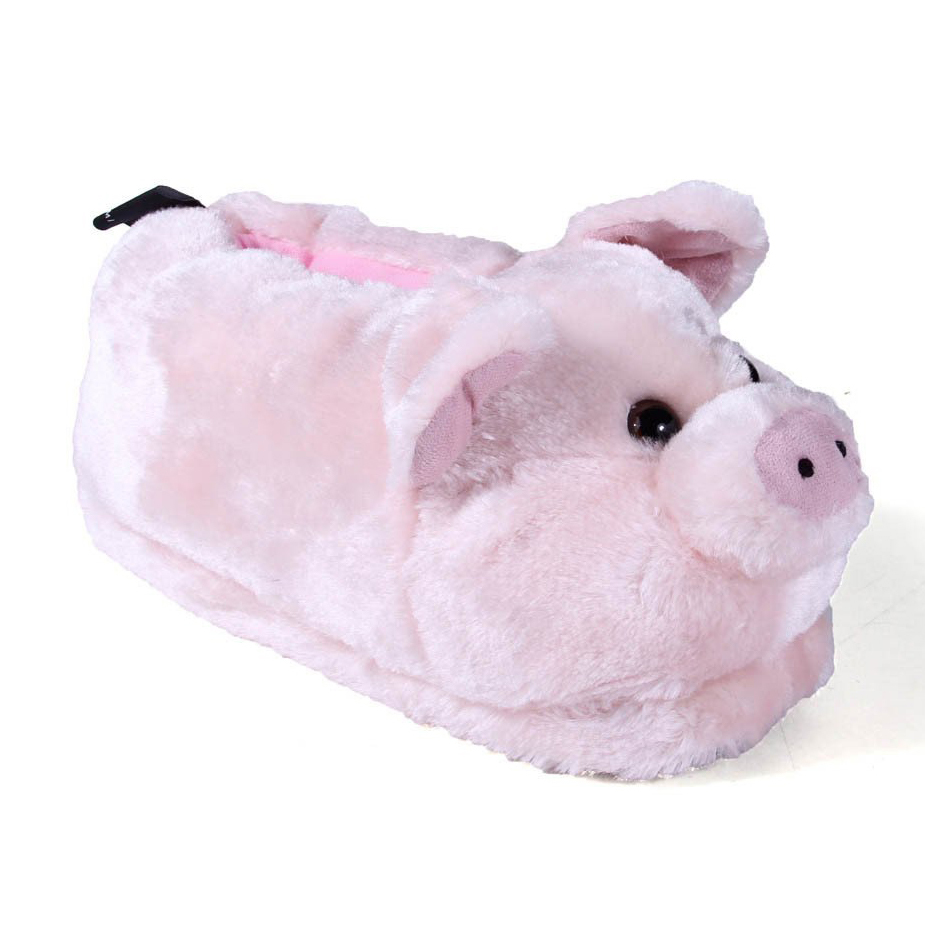 Pig-Themed Baby and Toddler Gifts Happy Feet Pig Animal Slippers photo