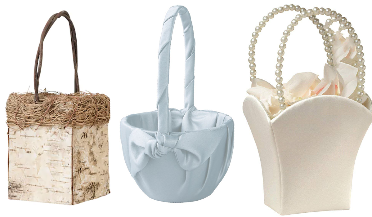The Prettiest Flower Girl Baskets for Spring