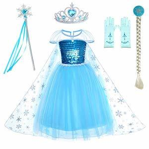Frozen Birthday Party Ideas Party Chili Snow Queen Princess Elsa Birthday Party Dress photo
