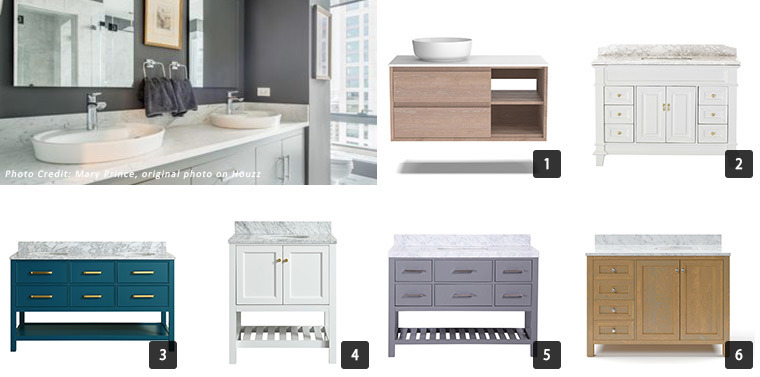 A wide range of vanities for your bathroom from modern to traditional. photo
