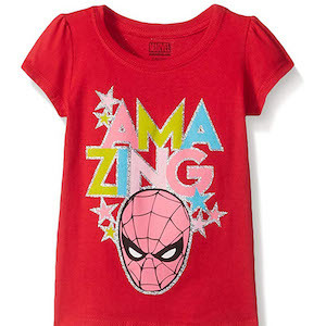 Spider-Man Gift Ideas Marvel Girls' Spider-Man T-Shirt photo