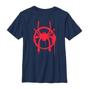 Spider-Man Gift Ideas Marvel Boys' 'Spider-Man: Into the Spider-Verse' T-Shirt photo
