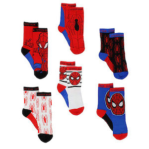 Spider-Man Gift Ideas Marvel Boys Spider-Man Superhero Adventures Athletic Crew Socks photo